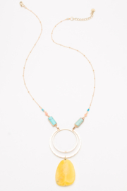 Nakamol  Yellow Pendant Necklace - Front cropped