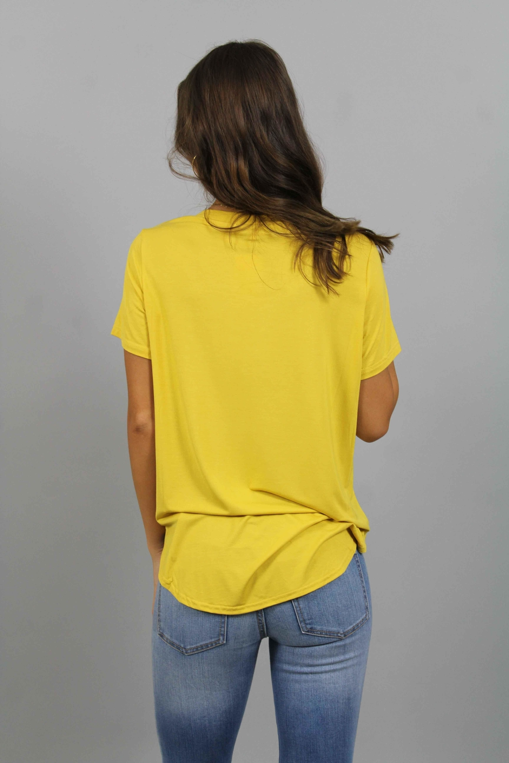 Piko  Yellow T-Shirt - Side Cropped Image