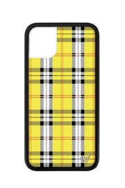 Wildflower Cases Yellow Plaid iPhone 11 Case - Front cropped