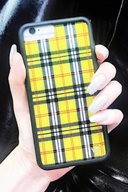 Wildflower Cases Yellow Plaid iPhone 11 Pro Case - Front full body