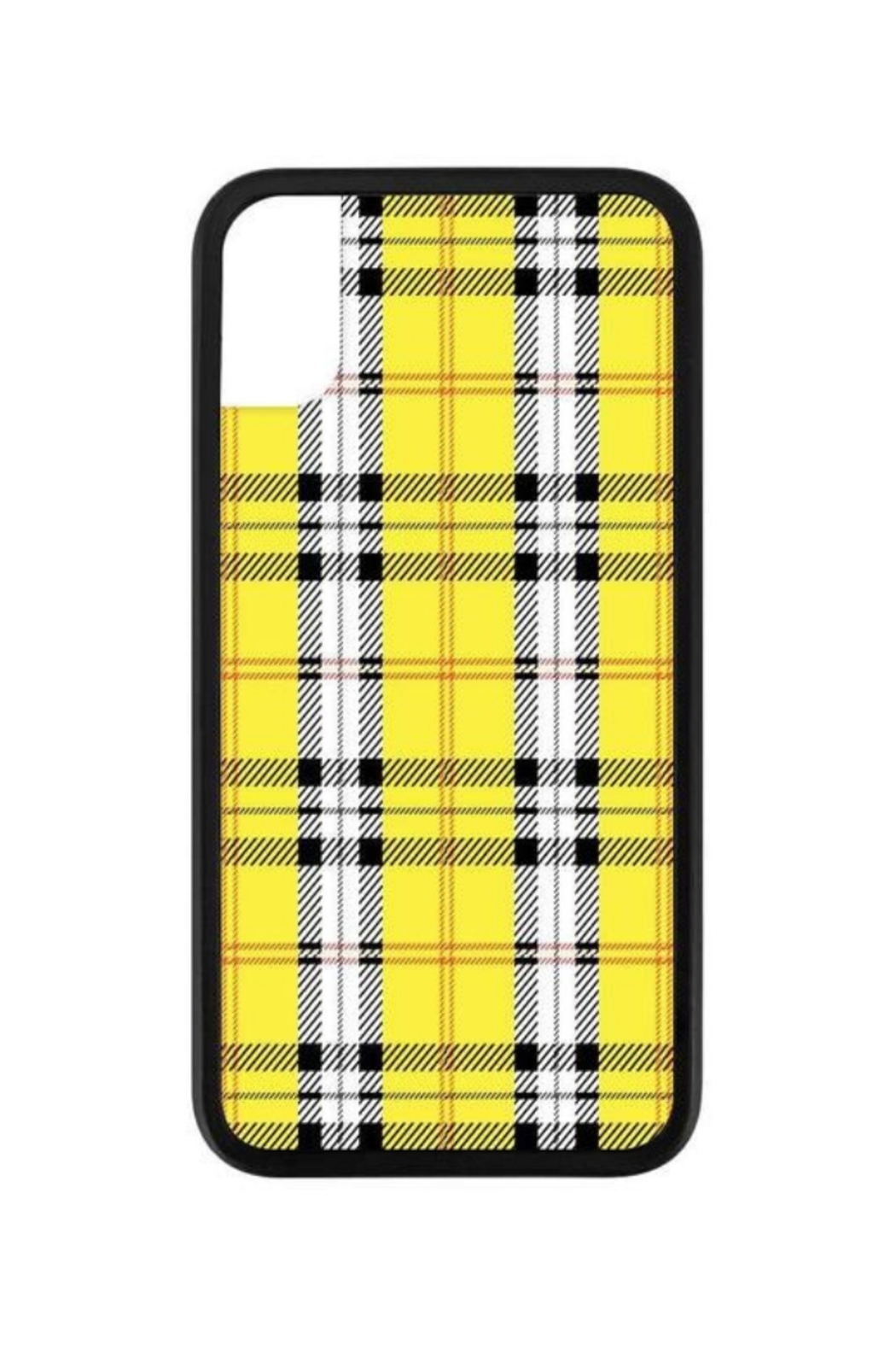 Wildflower Cases Yellow Plaid iPhone X Case - Main Image
