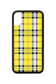 Wildflower Cases Yellow Plaid iPhone X Case - Front cropped
