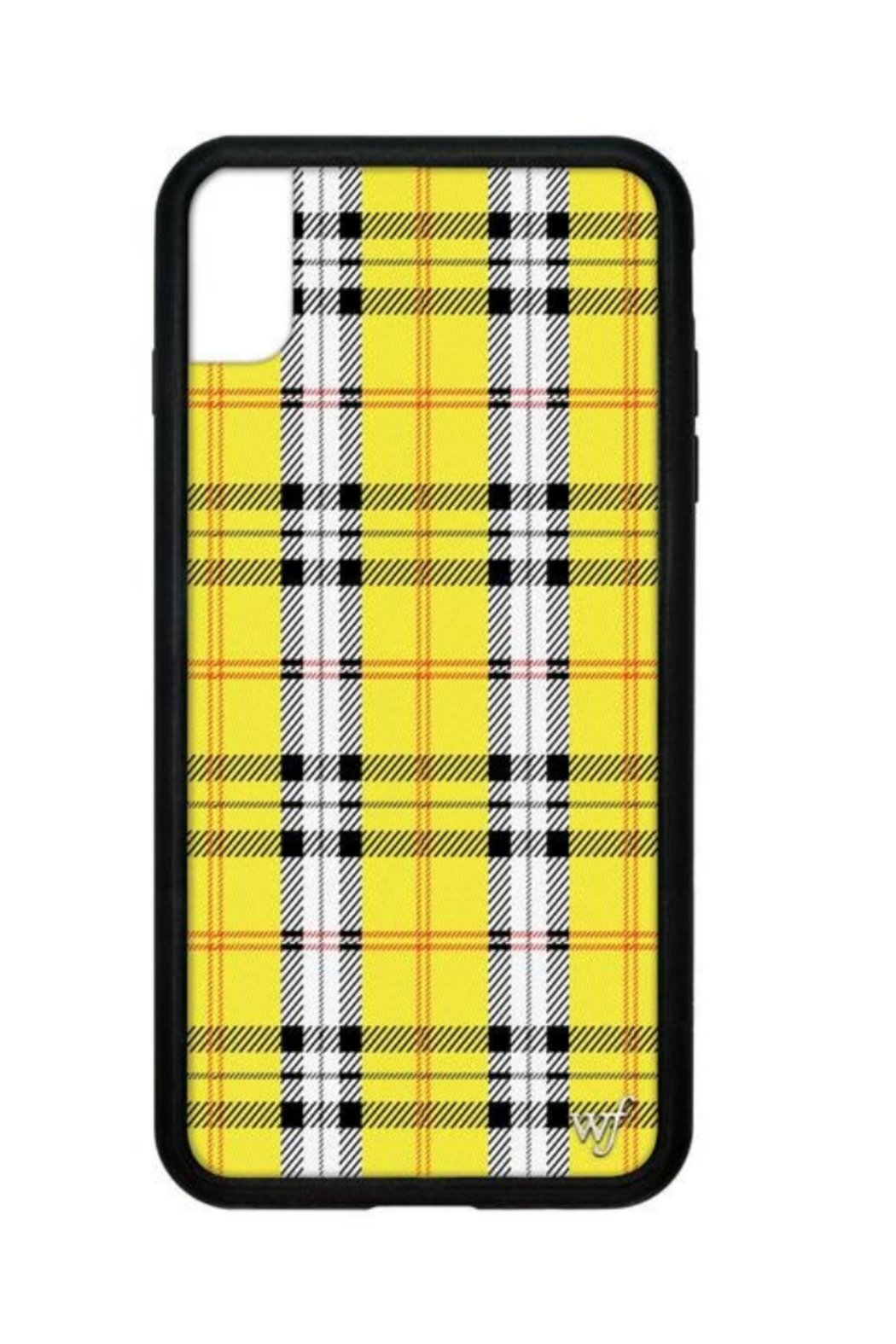 Wildflower Cases Yellow Plaid iPhone Xs Max Case - Main Image