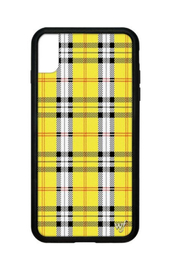 Wildflower Cases Yellow Plaid iPhone Xs Max Case - Front cropped