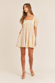 Mable Yellow Plaid Mini - Side cropped