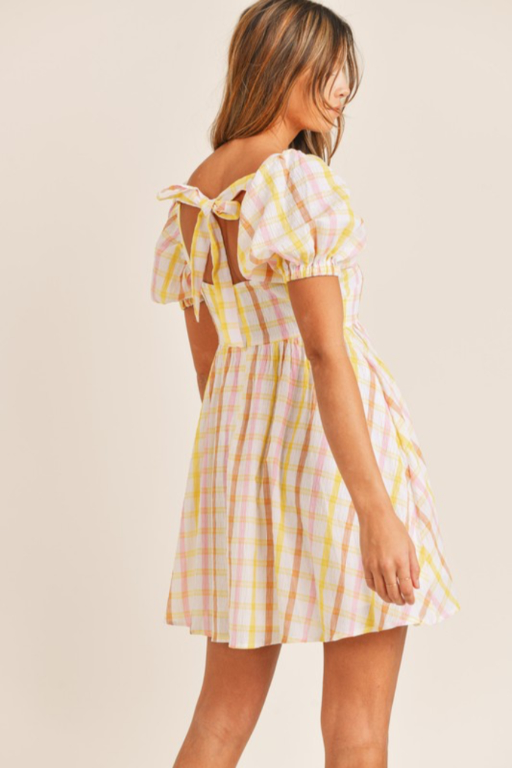 Mable Yellow Plaid Mini - Front Full Image