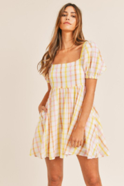 Mable Yellow Plaid Mini - Front cropped