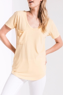 z supply Yellow Pocket Tee - Product List Image