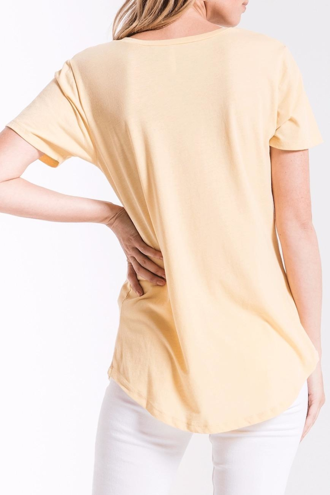 z supply Yellow Pocket Tee - Front Full Image