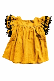 HONEYDEW Yellow Pom Shirt - Front cropped