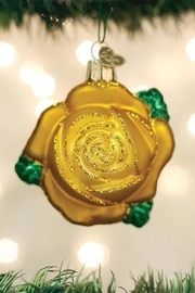 Old World Christmas Yellow Rose Ornament - Product Mini Image