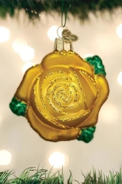 Old World Christmas Yellow Rose Ornament - Product List Image