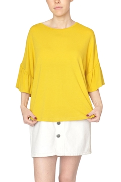 Just Female Yellow Ruffle Top - Product List Image