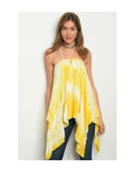 Vava by Joy Hahn Yellow Ruffle Top - Product Mini Image