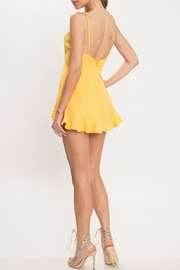 L'atiste Yellow Shift Romper - Back cropped