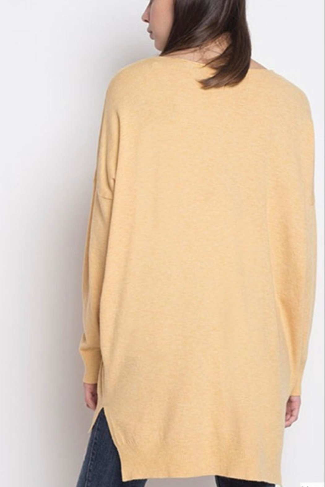 Dreamers Yellow Soft Sweater - Front Full Image