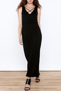 Shoptiques Product: Black Sleeveless Midi Dress