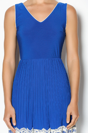 Yellow Star Royal Blue Pleated Dress - Other