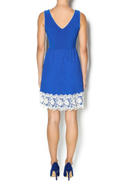 Yellow Star Royal Blue Pleated Dress - Side cropped