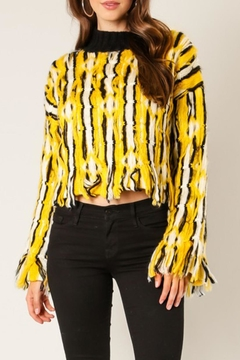 Shoptiques Product: Yellow Stripe Sweater