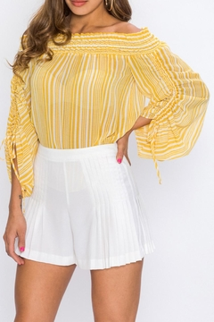 Shoptiques Product: Yellow Striped Blouse