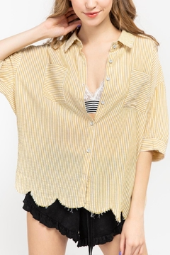 POL Yellow Striped Top - Product List Image