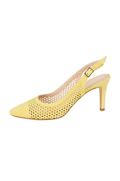 Shoptiques Product: Yellow-Suede Slingback Heels