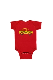 BEVA Yellow Taxi Onesie - Front cropped
