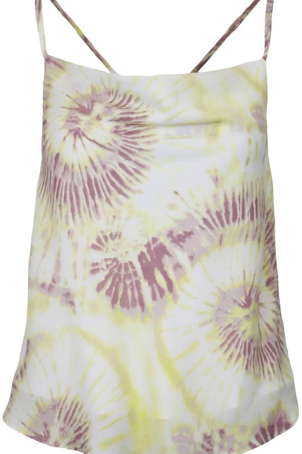 Lucy Paris  Yellow Tie Dye Cami - Side Cropped Image