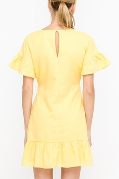 Lush Yellow Tie-Front Dress - Alternate List Image