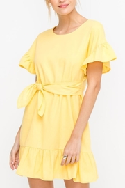 Lush Yellow Tie-Front Dress - Product Mini Image