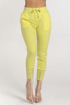 Shoptiques Product: Yellow Tie Pants