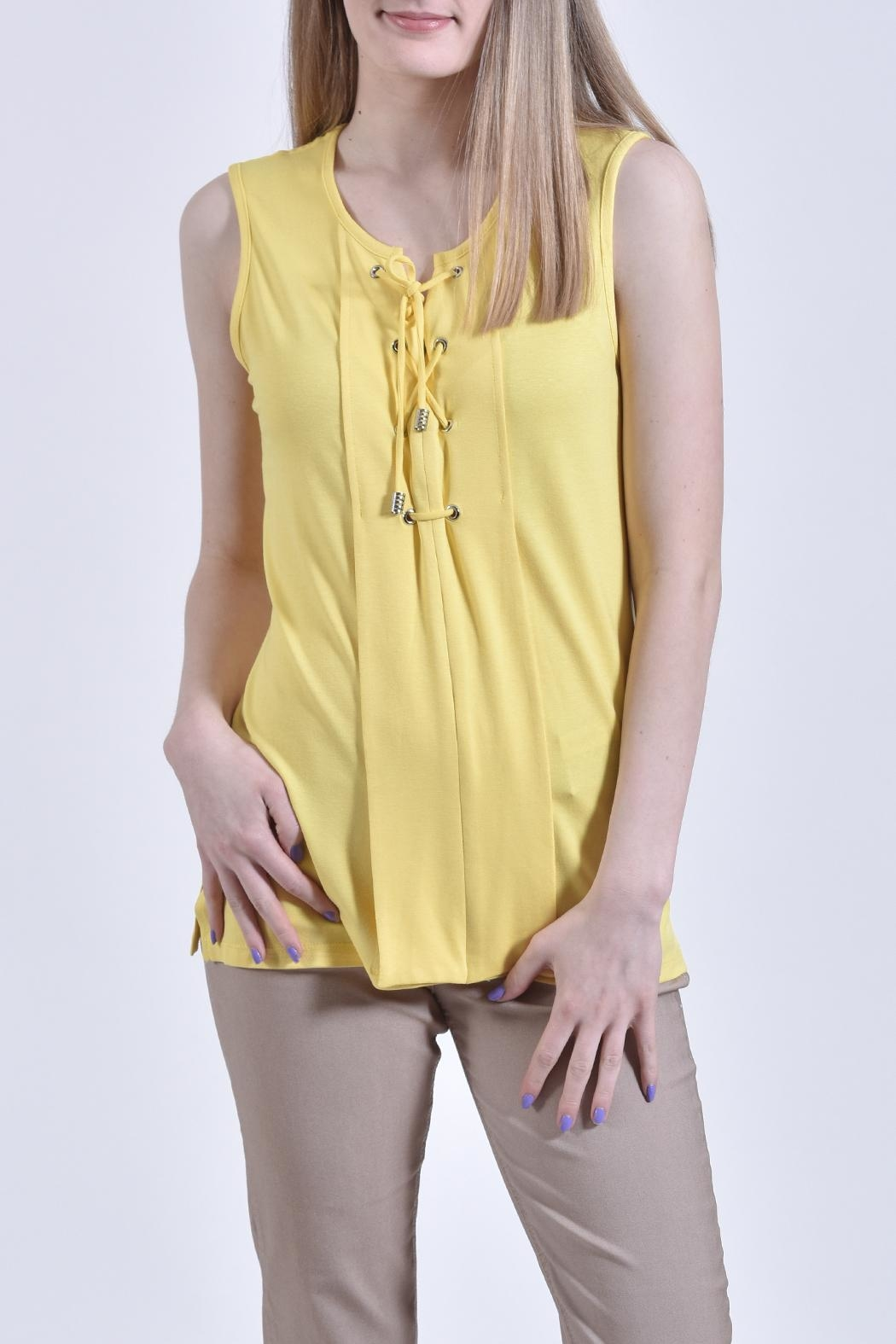 Zoe Yellow Tie Shirt - Front Cropped Image