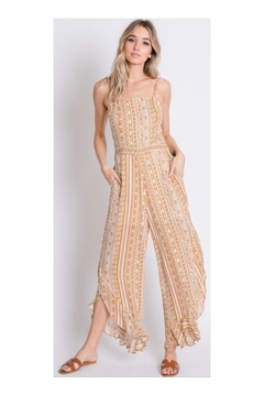 Davi & Dani Yellow Tribal Jumpsuit - Product List Image
