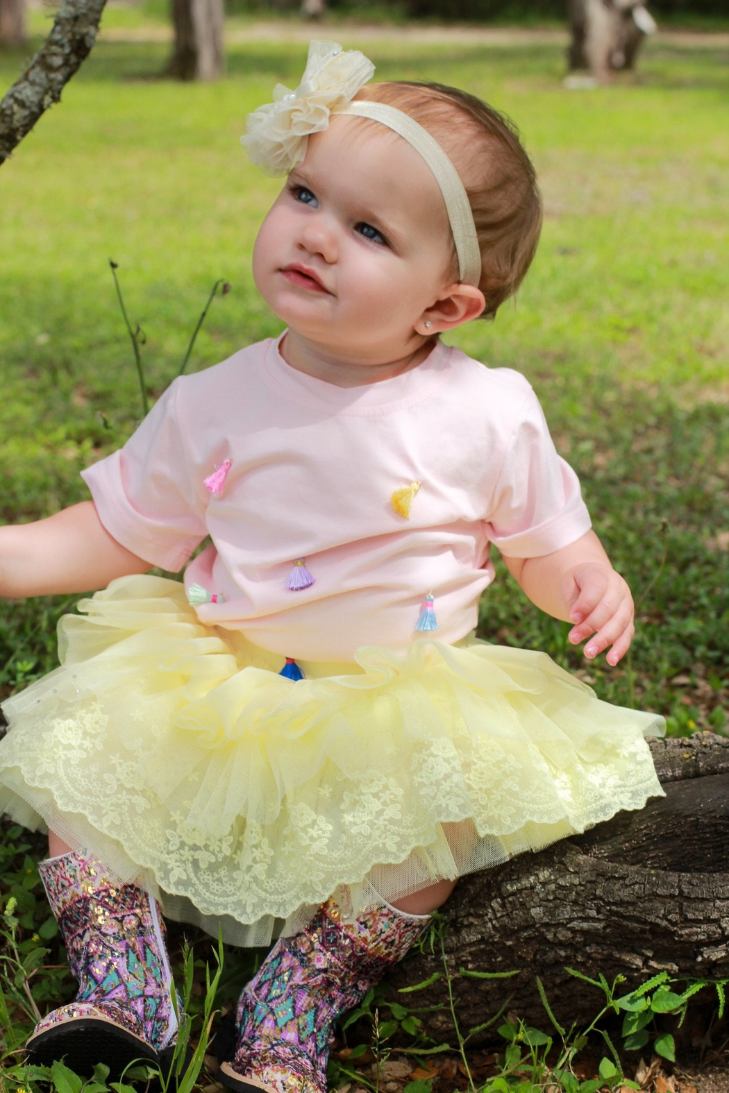 Doe a Dear Yellow Tulle Tutu Skirt - Side Cropped Image