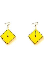 Love's Hangover Creations Yellow Wooden Earrings - Product Mini Image