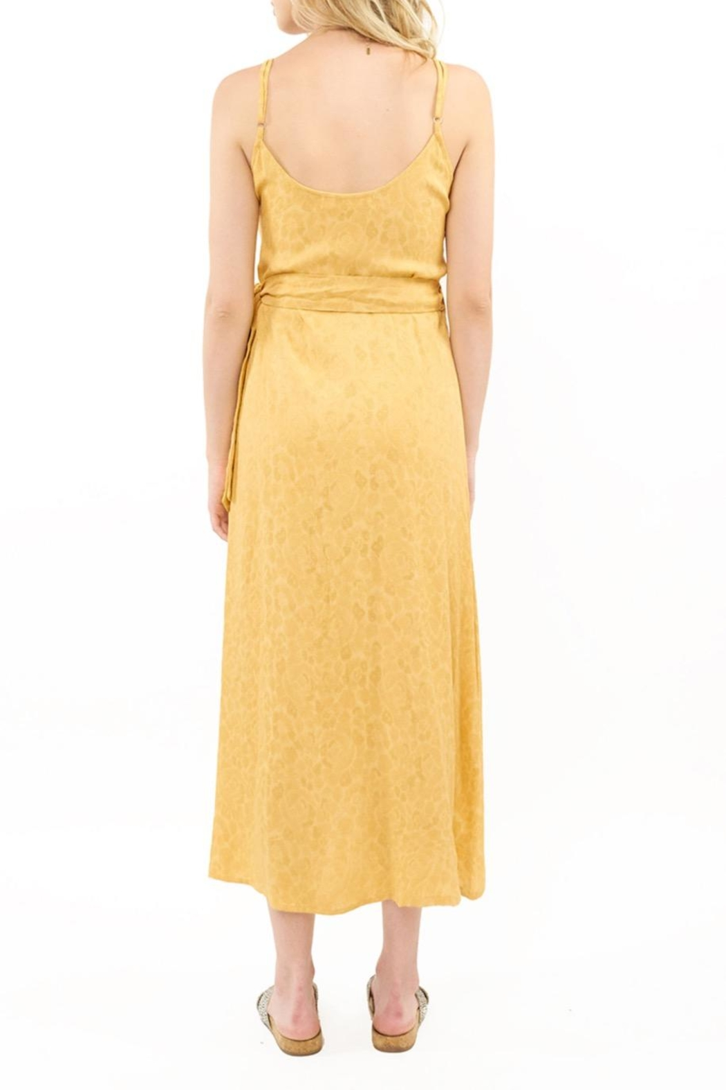 Saltwater Luxe Yellow Wrap Midi - Front Full Image