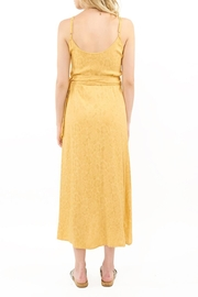 Saltwater Luxe Yellow Wrap Midi - Front full body
