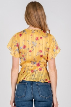 Fore Collection Yellow Wrap Top - Alternate List Image