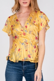 Fore Collection Yellow Wrap Top - Product Mini Image