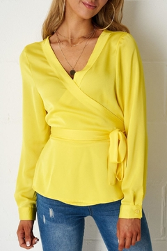 frontrow Yellow Wrap Top - Product List Image