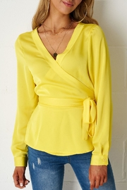 frontrow Yellow Wrap Top - Product Mini Image