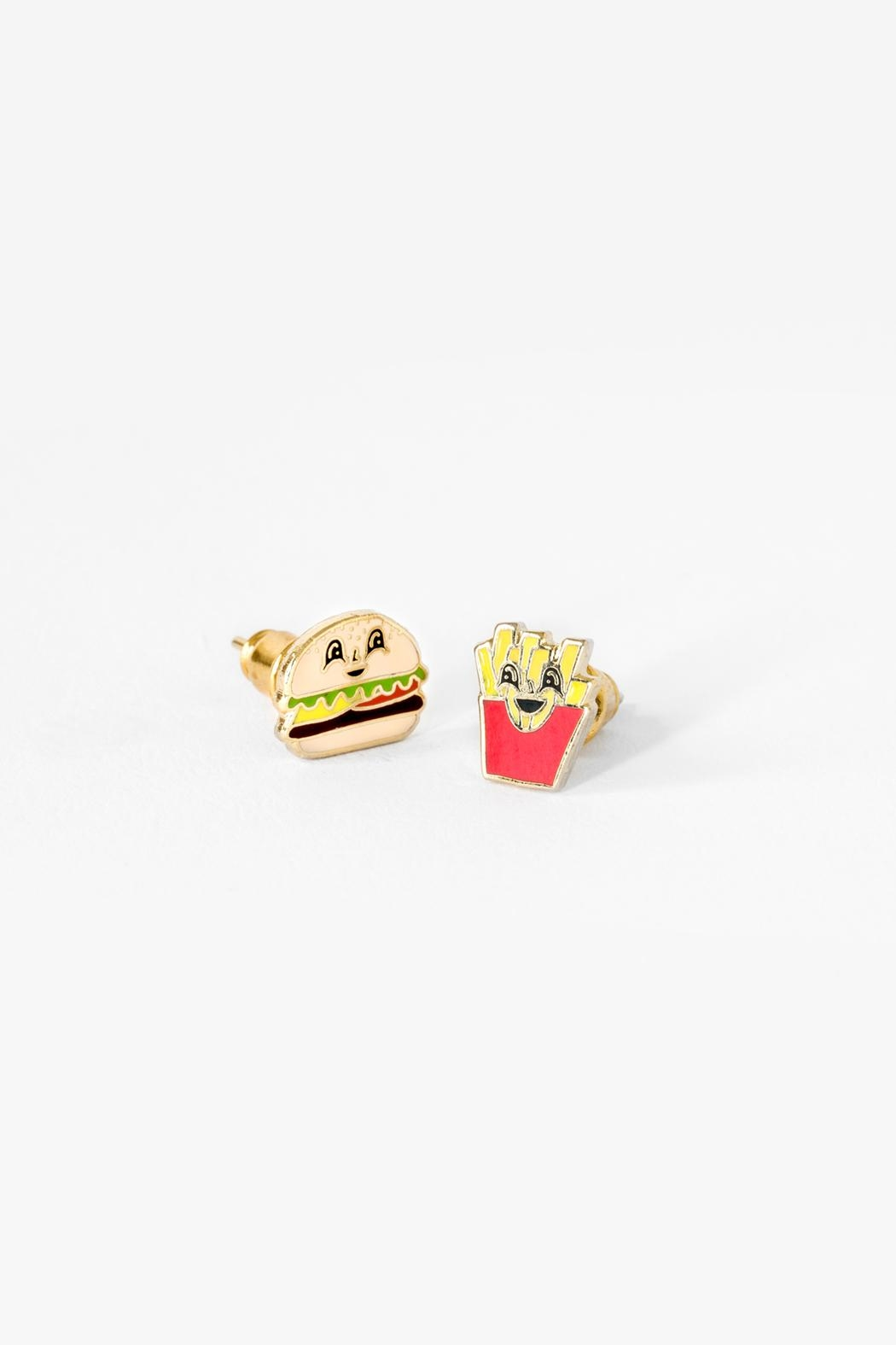 Yellow Owl Workshop Burger/fries Earrings - Front Cropped Image