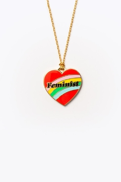 Yellow Owl Workshop Feminist Heart Necklace - Product List Image