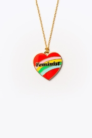Yellow Owl Workshop Feminist Heart Necklace - Product Mini Image