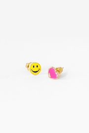Yellow Owl Workshop Smile/Heart Earrings - Product Mini Image