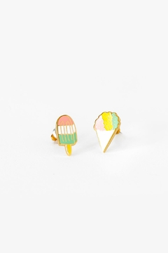 Shoptiques Product: Snowcone/popsicle Earrings
