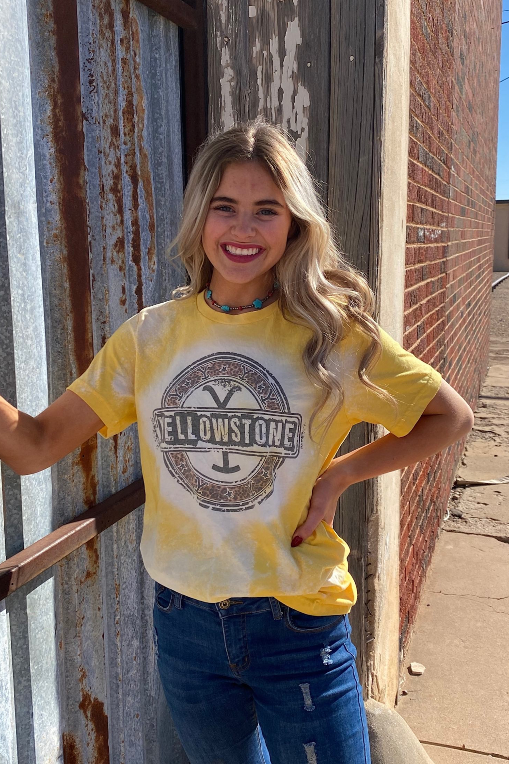 shop my boutique  Yellowstone Tye Die T - Front Full Image