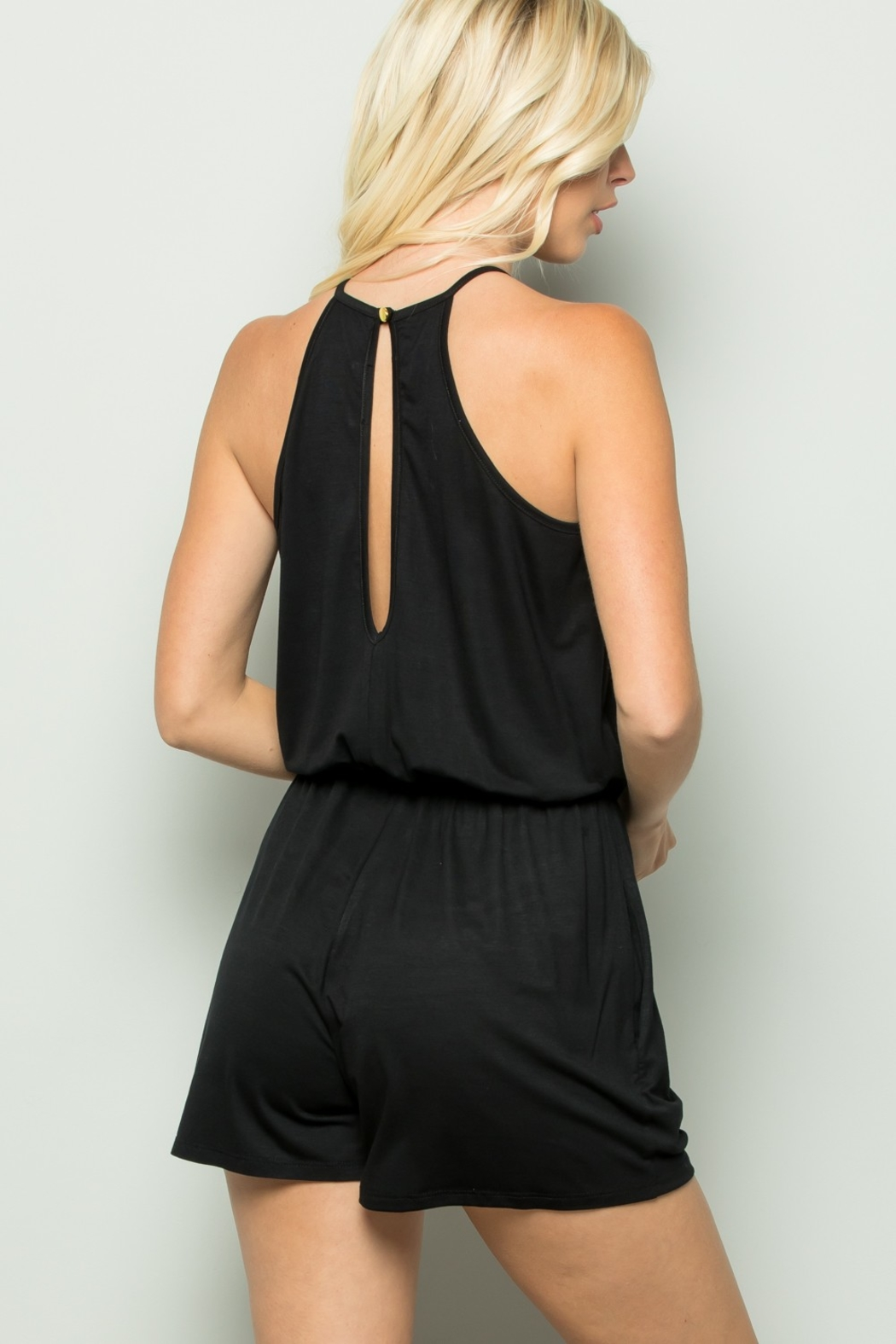 Apple B Yes Girl Romper - Side Cropped Image