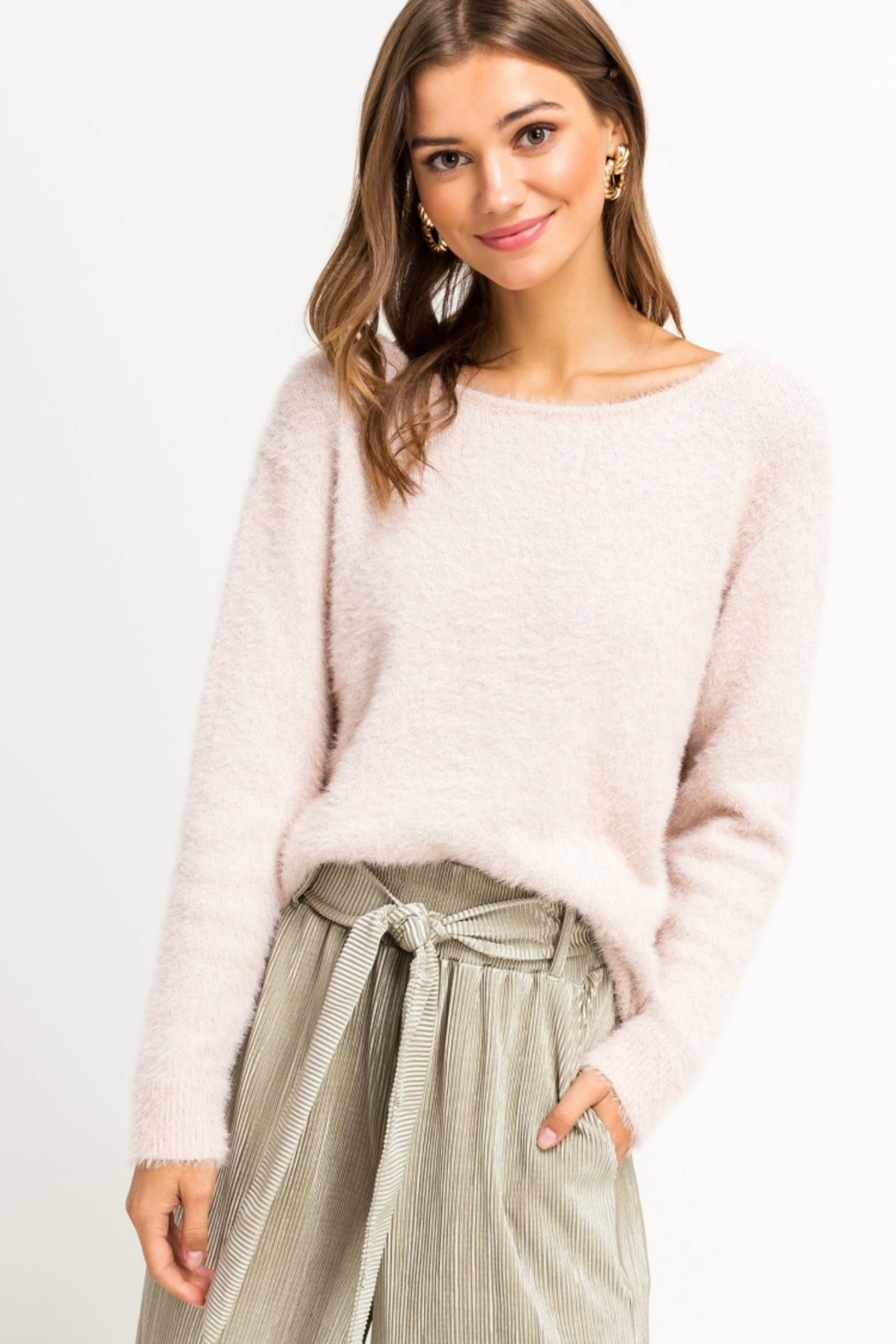 Lush Clothing  YES PLEASE SWEATER - Front Cropped Image